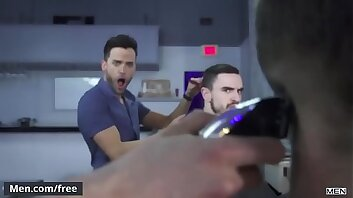 Barber shop fucking session with (Morgan Blake, Ethan Chase) - Men.Com