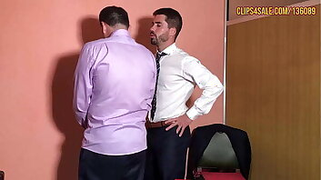 Boss Diego Spanks Employee, Gets Worshiped and Jerks Off