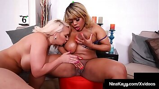 Thick Chicks Nina Kayy Maggie Green & Yummy Eat Pink Pussy!