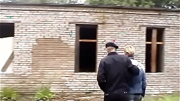 Grandpa fucks and gets fucked by twink in abandoned building