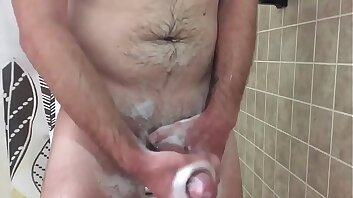 Step Son Jerks Off In The Shower While Mom Is In The Next Room