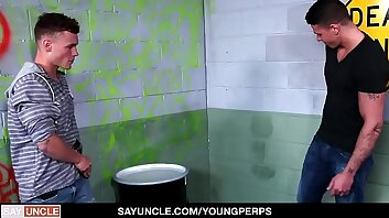 YoungPerps - Fit Teen Fucked Raw By Two Undercover Cops