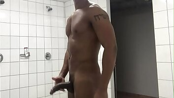 My Big Cock in the Shower after training